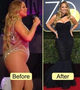 Mariah Carey - celebrity weight loss
