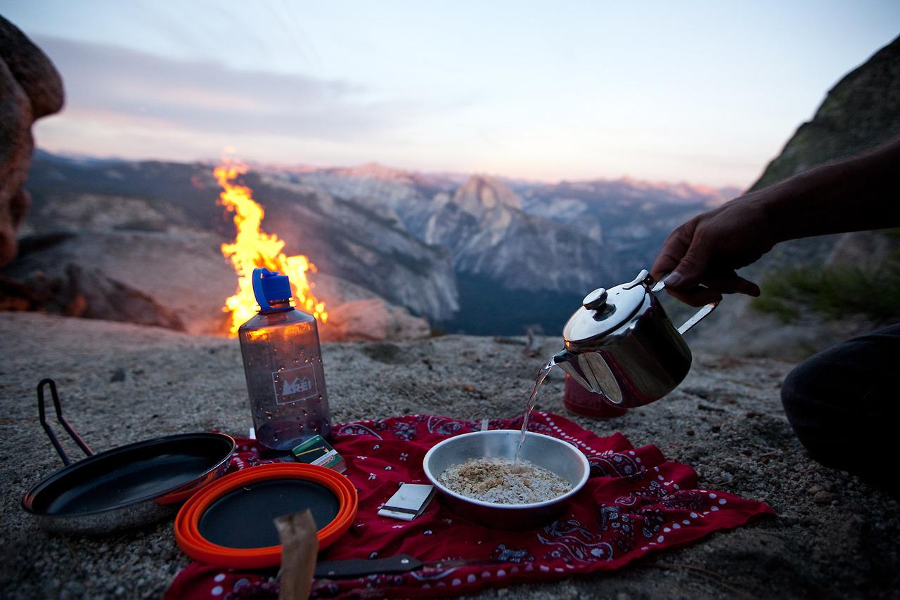 hiking gear fire