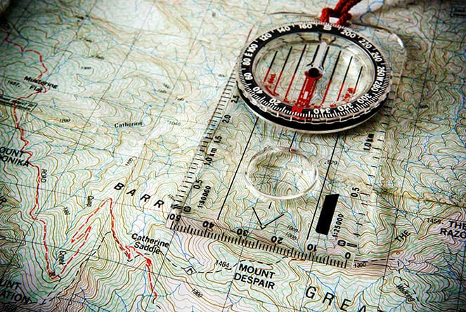 hiking gear compass