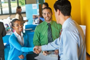 job hunting tips meet in person
