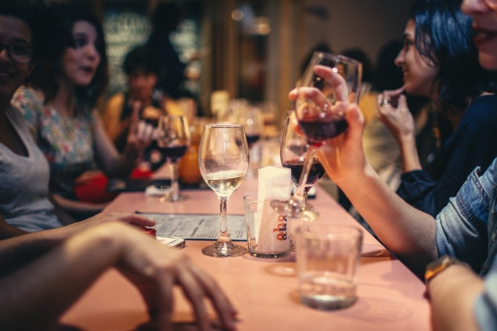 a busy bar isn't a good idea for a first date