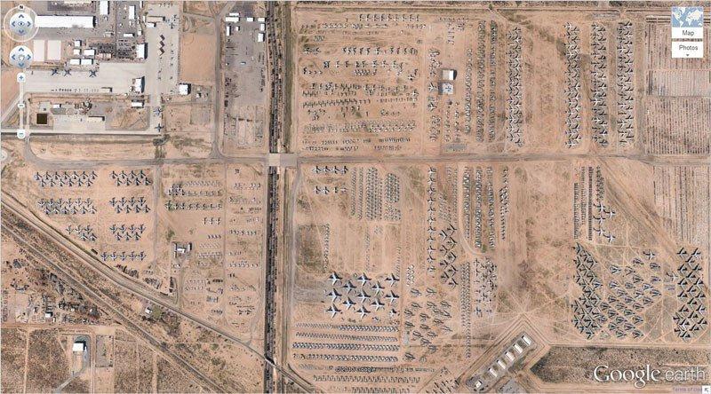 airplane boneyard odd things on google maps