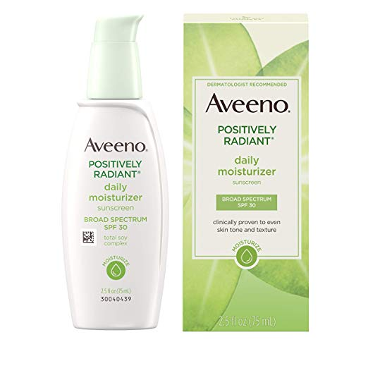 aveeno positively radiant daily facial moisturizer with spf 30