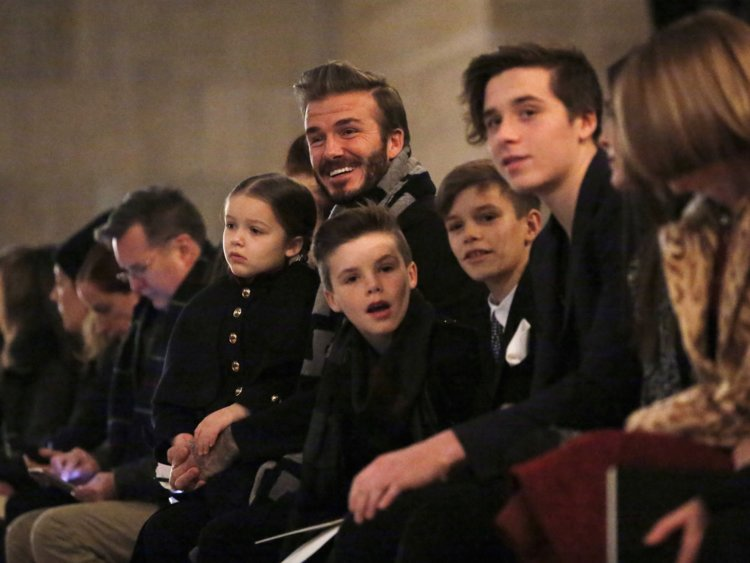 beckham kids celebrities pictures
