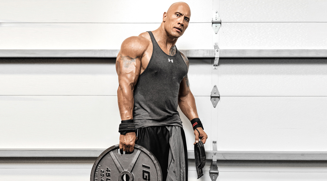 dwayne johnson most fit celebrity men