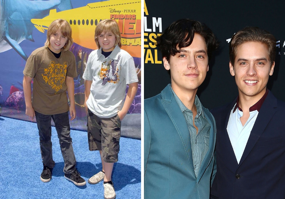 dylan and cole sprouse before and after