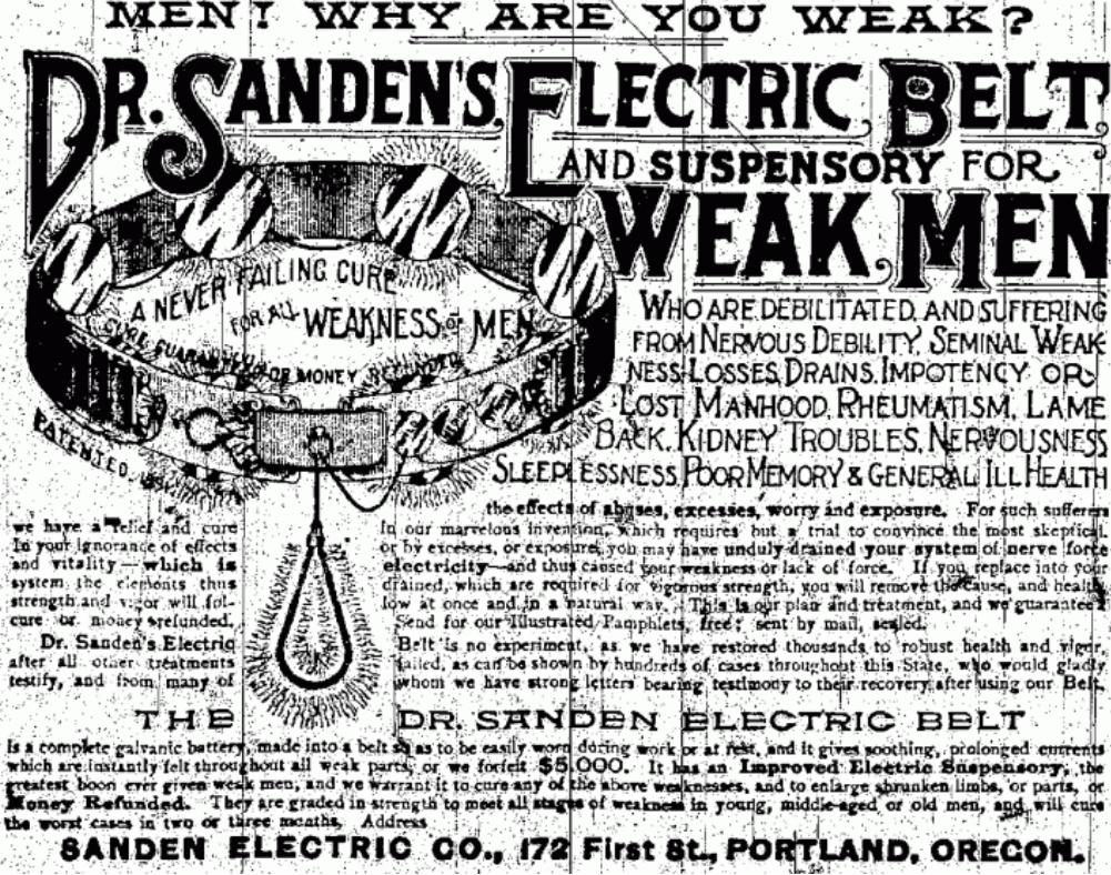 electric belt to cure men weakness