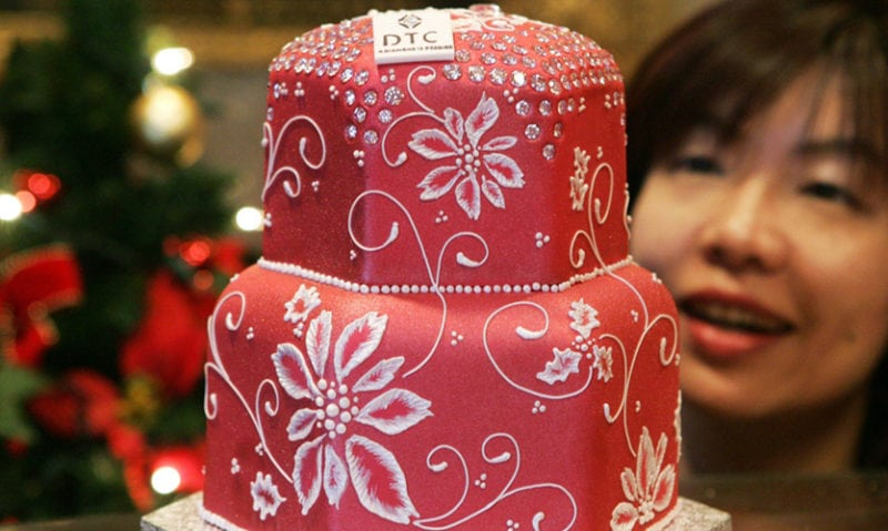 expensive desserts Diamond Christmas Cake