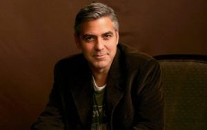 George Clooney Bell's palsey