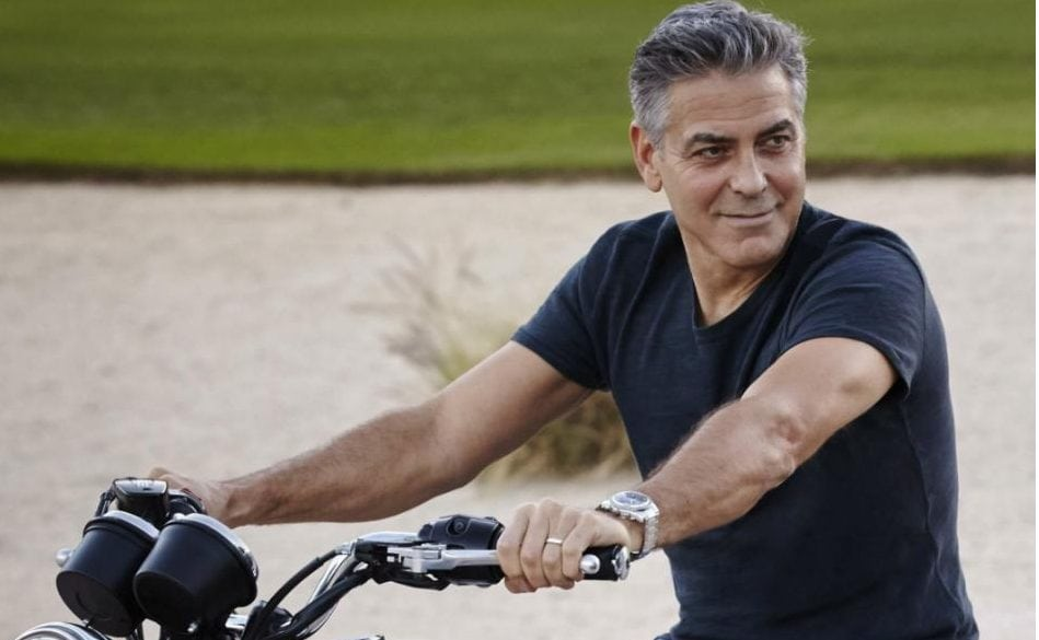 George Clooney is active in sports