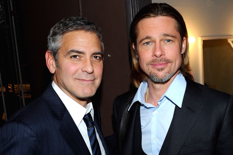 george clooney brad pitt best male celebrity friends