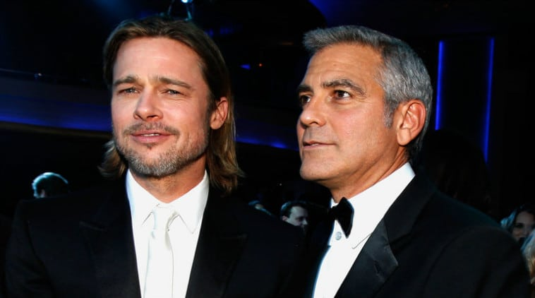 George Clooney with Brad Pitt
