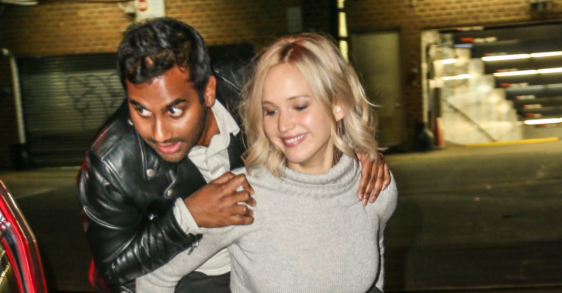 jennifer lawrence aziz ansari best friends