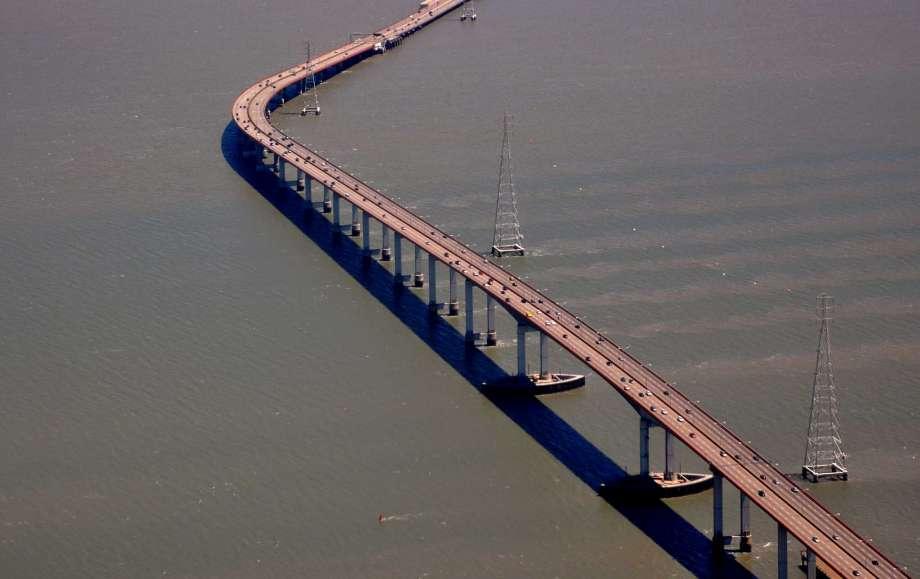 longest bridges in the us San Mateo Hayward Bridge