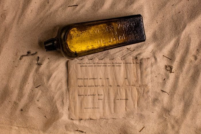 A century old message is another strange thing found on a beach