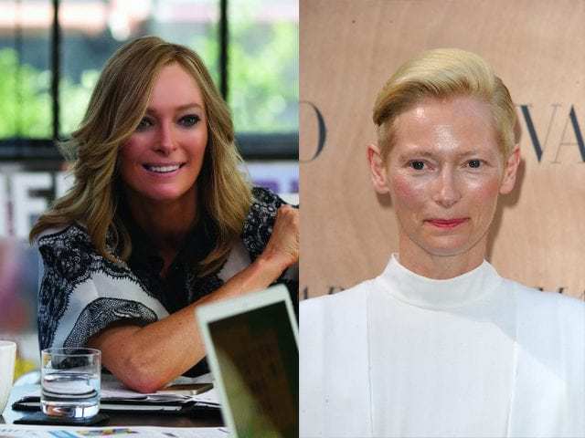 Tilda Swinton models who became actresses