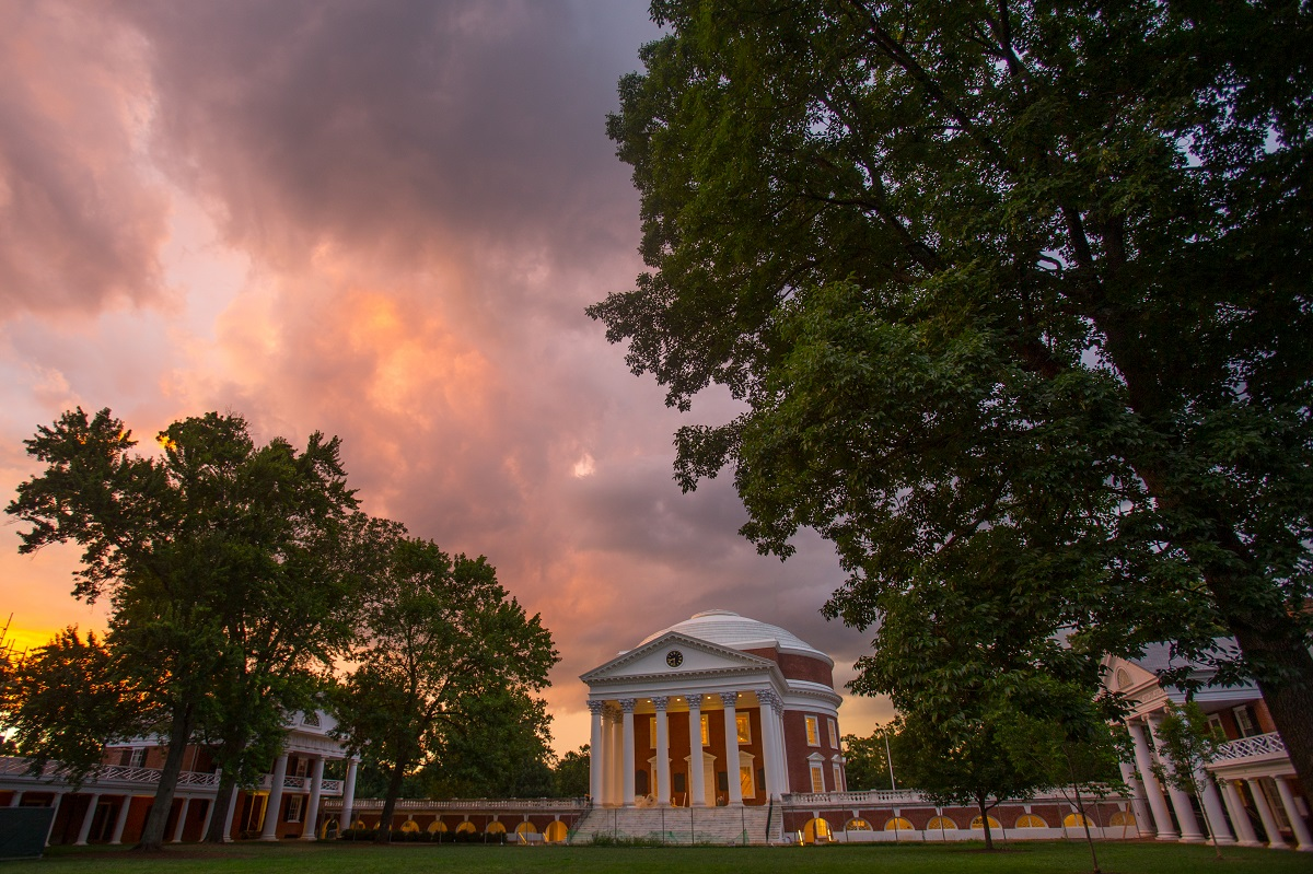 Sunset View of the Rotunda - most beautiful college campuses