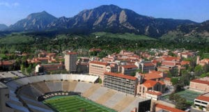 Drone View of the University of Colorado - one of the most beautiful college campuses in the us