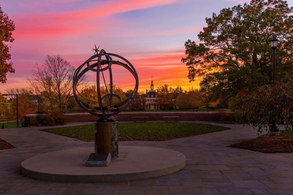 The Sundial & the Central Quad - most beautiful college campuses include Miami University