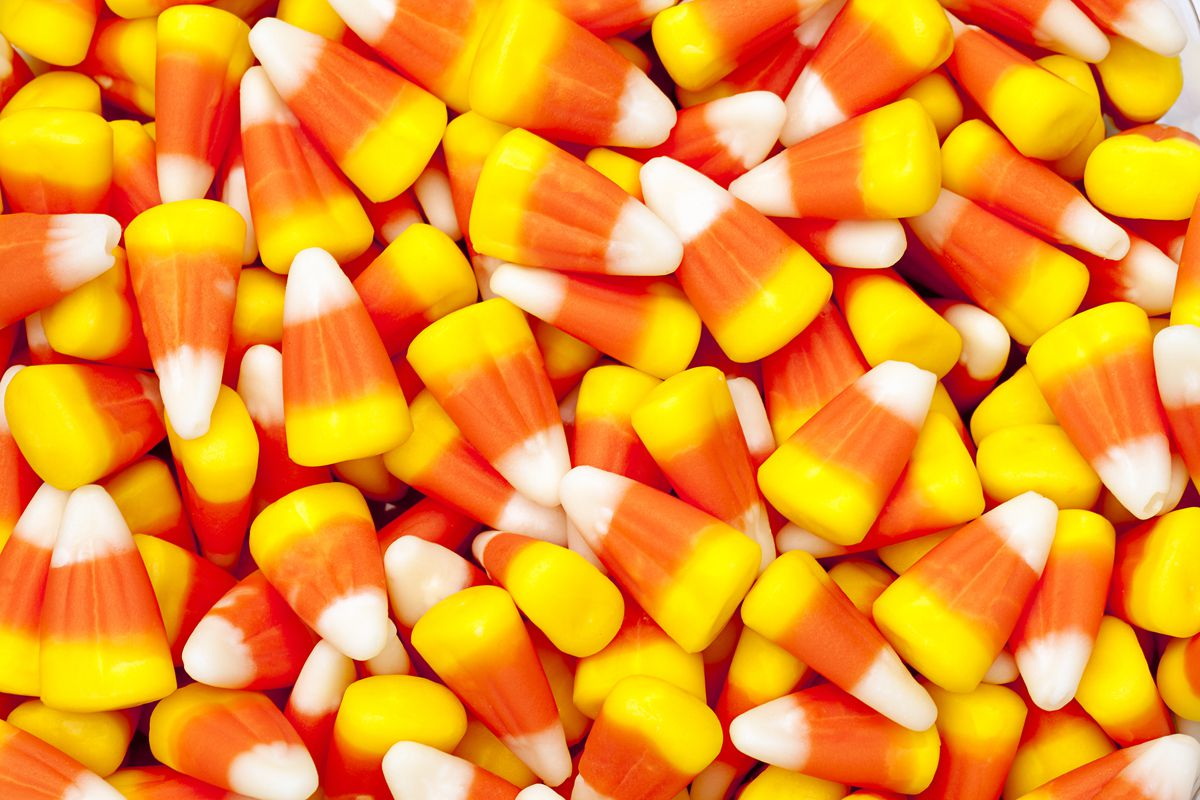 Candy Corn is a chewy candy that is one of the most popular candies in Halloween