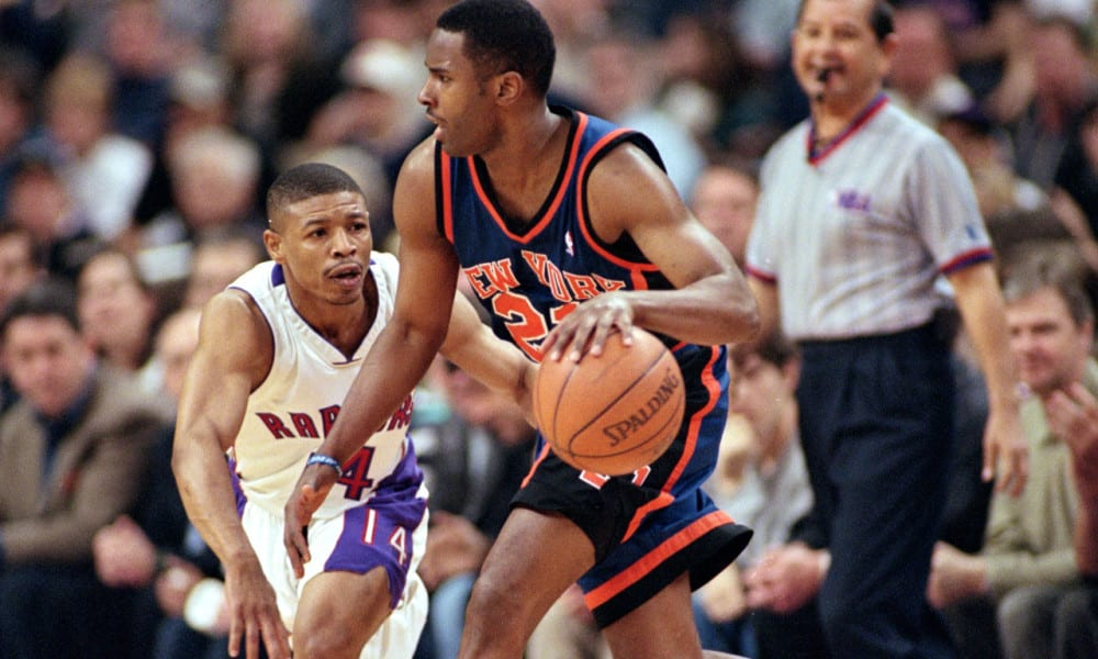 Charlie Ward playing for the New York Knicks is the only Heisman Trophy winner to play in the NBA making him one of the best multi-sports professional athletes