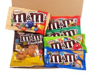M&M is another favorite candy during the halloween season