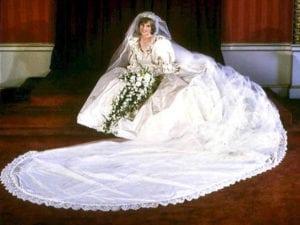 Her Wedding dress - princess diana facts