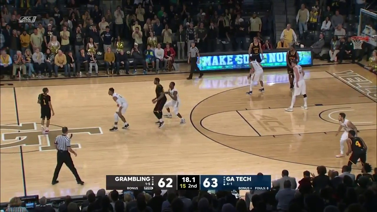 rules of basketball Georgia Tech scores on their own goal