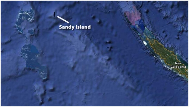 sandy island odd things on google maps