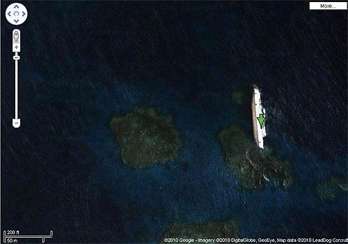 shipwreck odd things on google maps