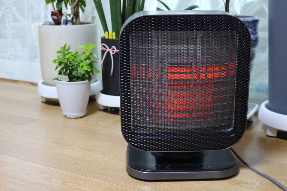 use a space heater warm your home