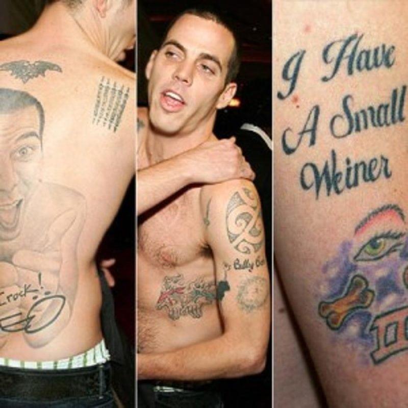 steve-o face tattoo