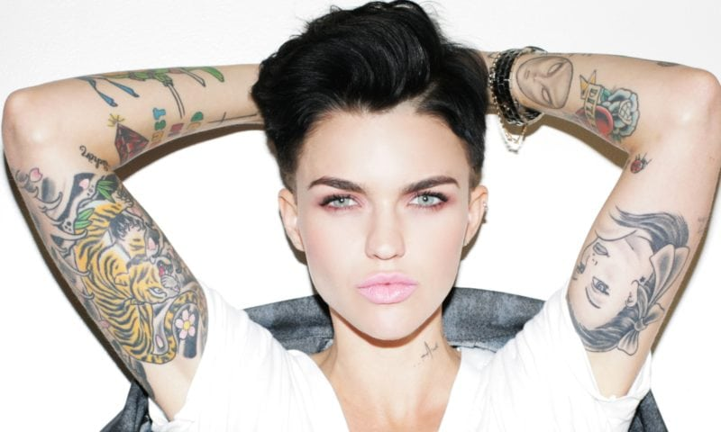 ruby rose has a sleeve of tattoos