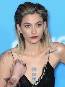 tattooed celebrities paris jackson