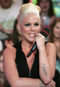 tattooed celebrities pink