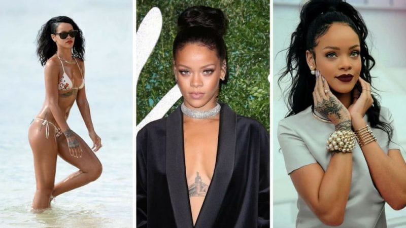 rihanna has tattoos all over her body