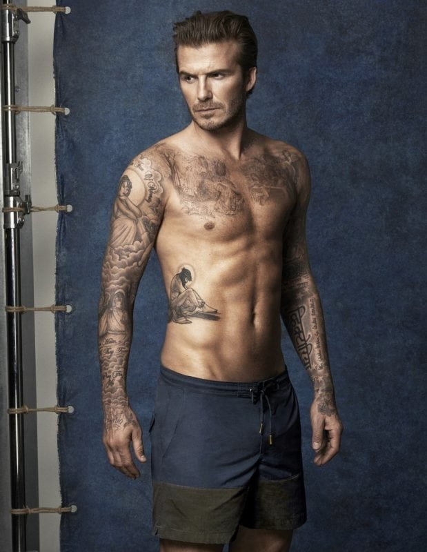 david beckman is the most tattooed celebrity