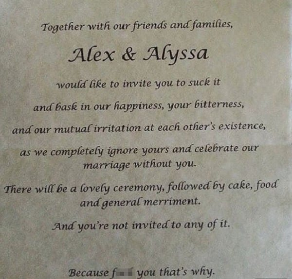 Worst Wedding Trends This is Why You're Not Invited Cards