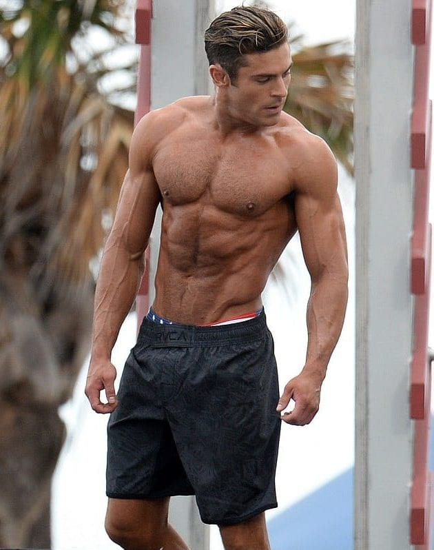 zac efron most fit celebrity men