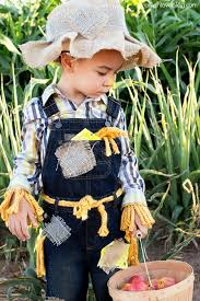 The No-Sew Scarecrow costume is one of the easiest DIY Halloween costumes