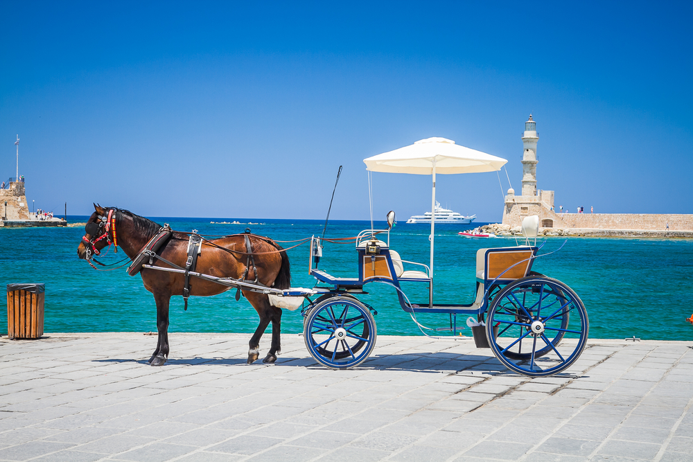 horse-drawn carriage (chania, crete, greece)