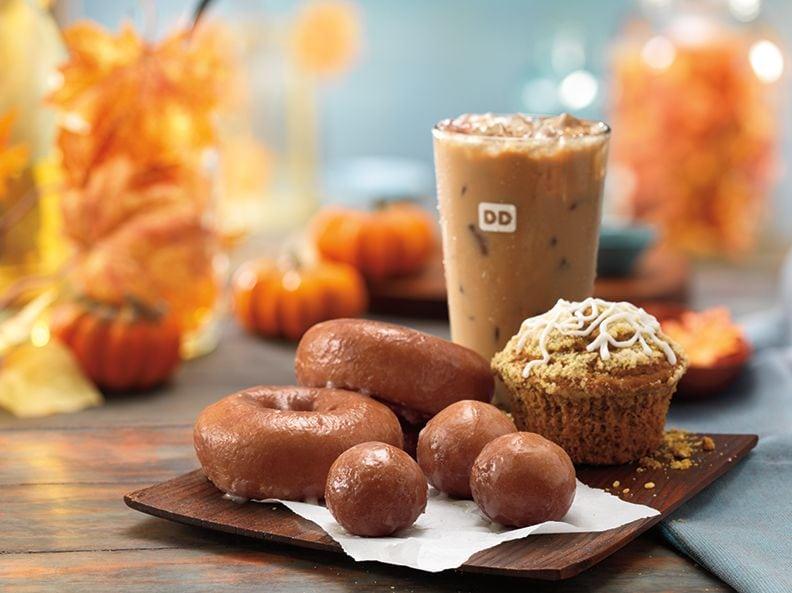 junk food snacks | Dunkin Donuts pumpkin doughnut