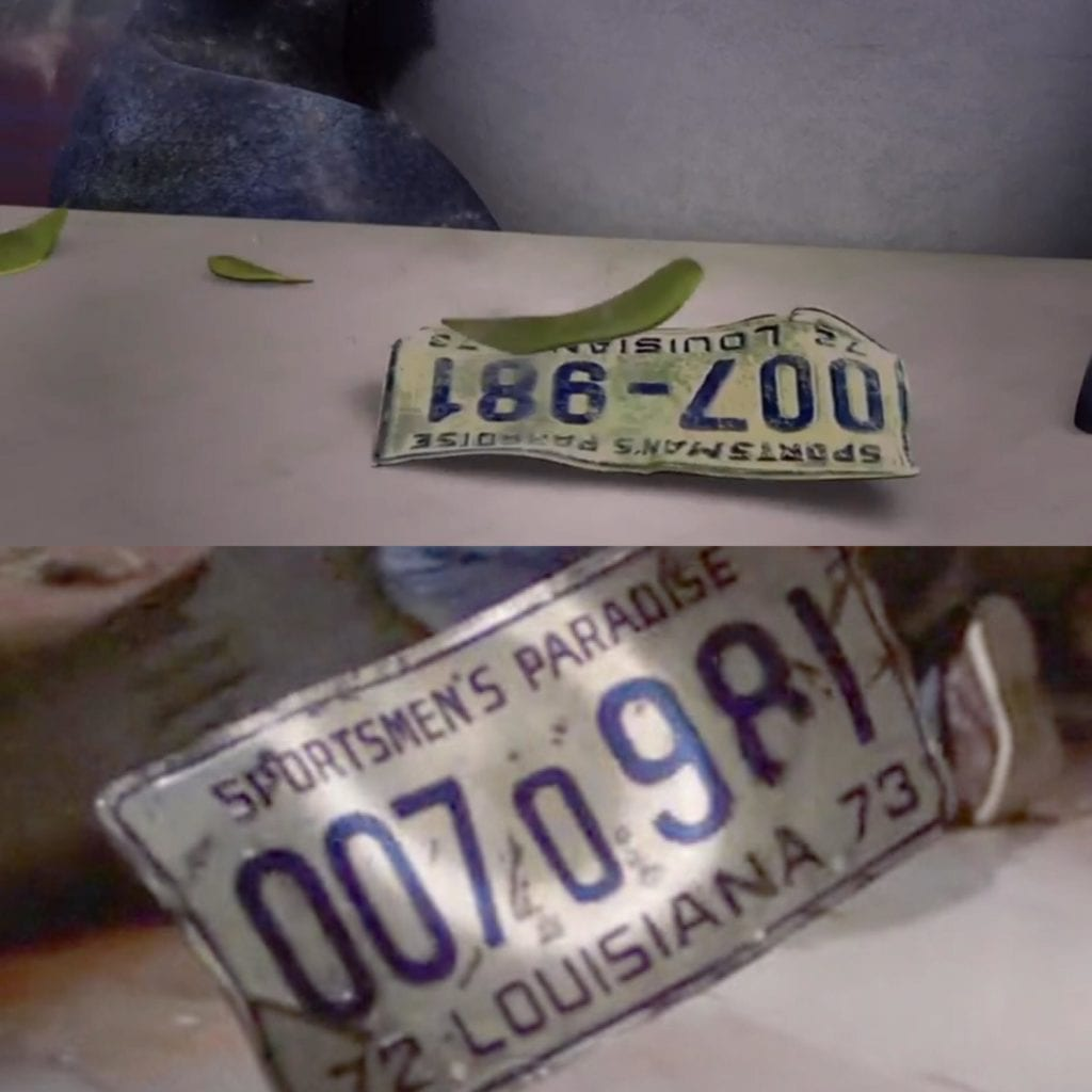 License Plate are said to be a common thing found in the belly of sharks