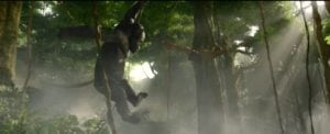 Gorillas flying in Legend of Tarzan - Mangani is one of the made up languages