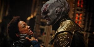 Scene in Start Trek - Klingon was one of the made-up languages used in the Star Trek Franchise