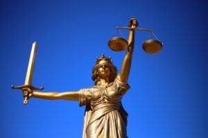 Blind Lady Justice Statue - Criminal Justice is another popular colllege major among would be legal assistans or law enforcement agents