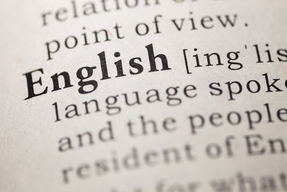 English meaning in the dictionary - English is one of the most popular college majors