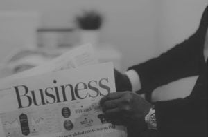 Reading Business Newspaper - popular college majors