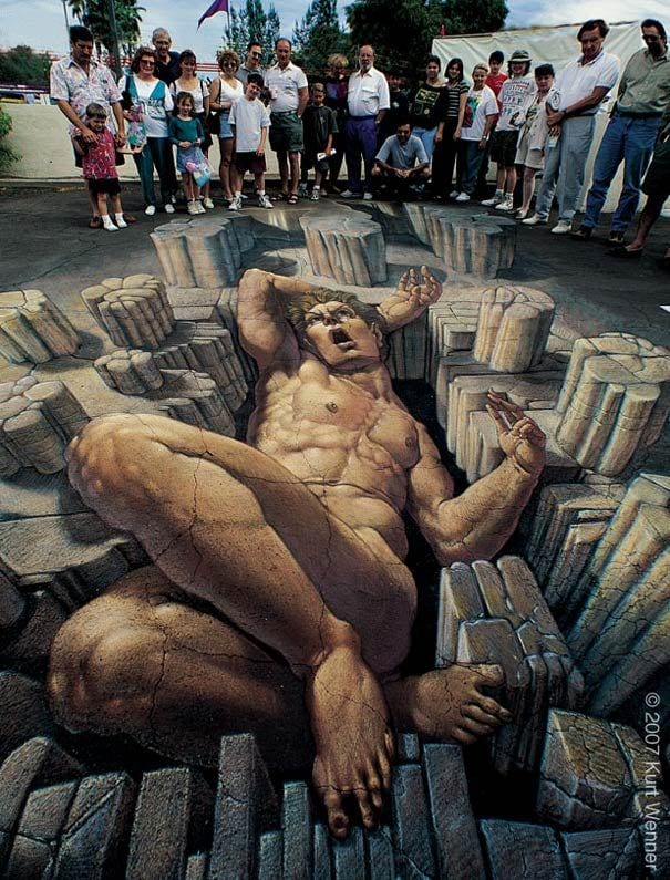 One of the largest 3D street Chalk ever created