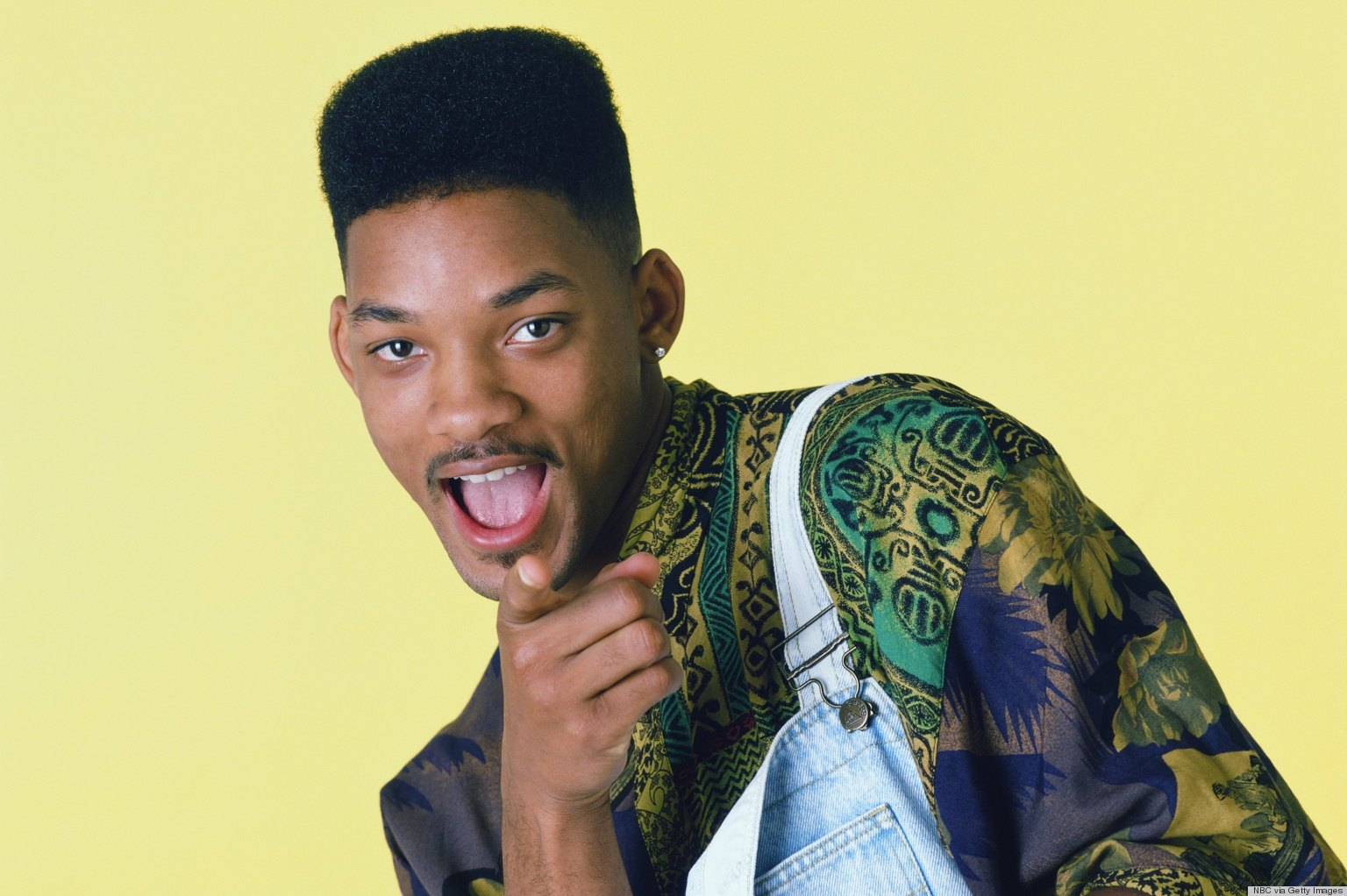 Will Smith with the high-top fade cut